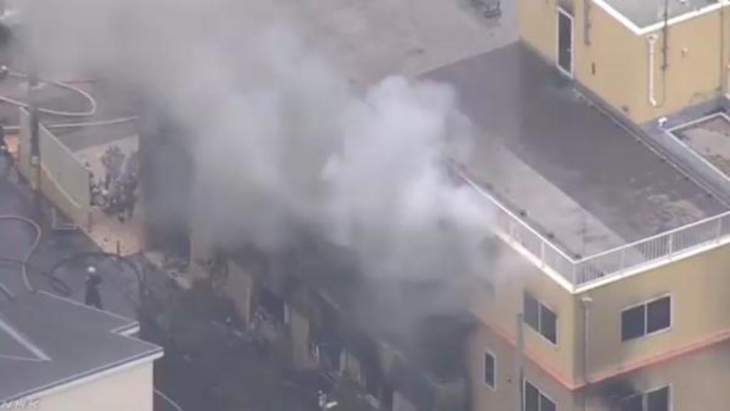 Se registran decesos por incendio en estudios de animación de Japón. Noticias en tiempo real