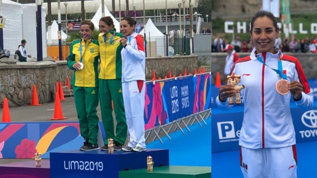 Triatleta Cecilia Pérez gana bronce para México en Lima 2019. Noticias en tiempo real