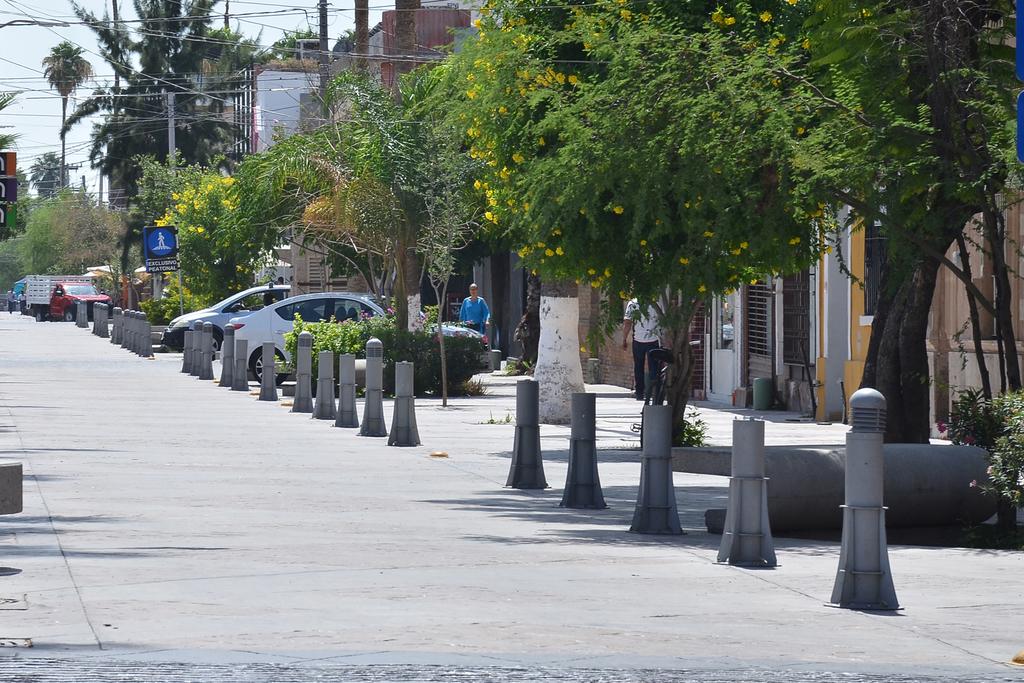 Reparan alumbrado de bolardos en Paseo Morelos para evitar riesgos entre visitantes. (FERNANDO COMPEÁN)