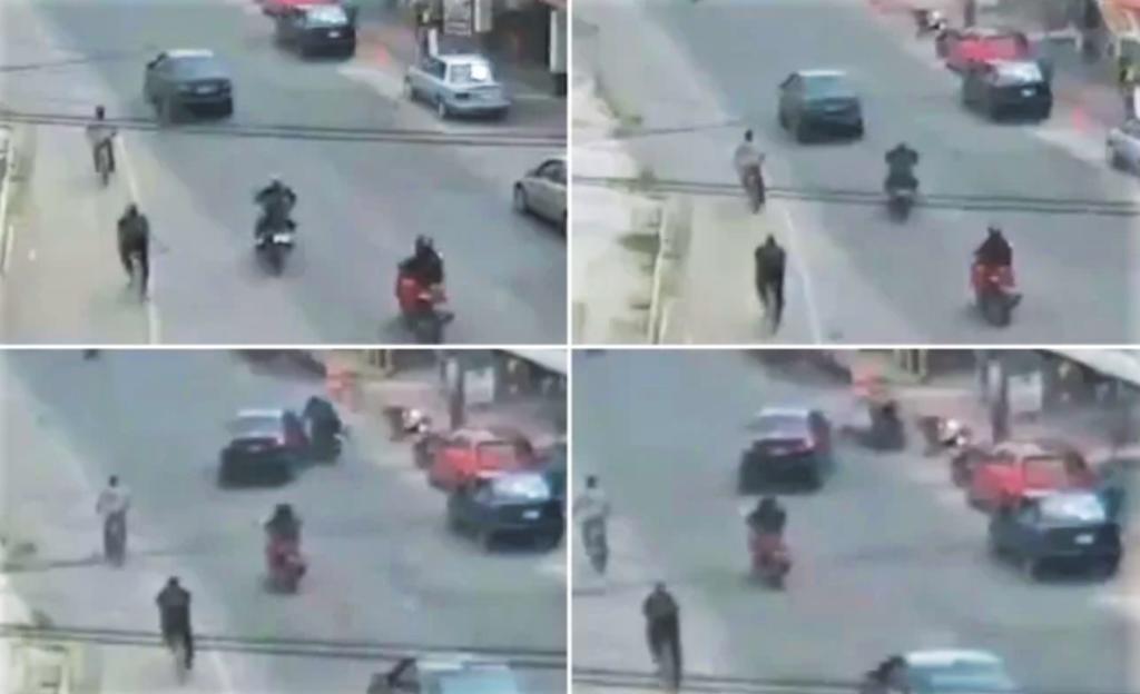 Choque entre motocicleta y auto en Edoméx es captado en video. Noticias en tiempo real