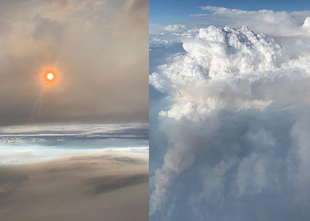 Estas nubes se forman cuando los incendios elevan suficiente calor y humedad a la atmósfera. (INTERNET)