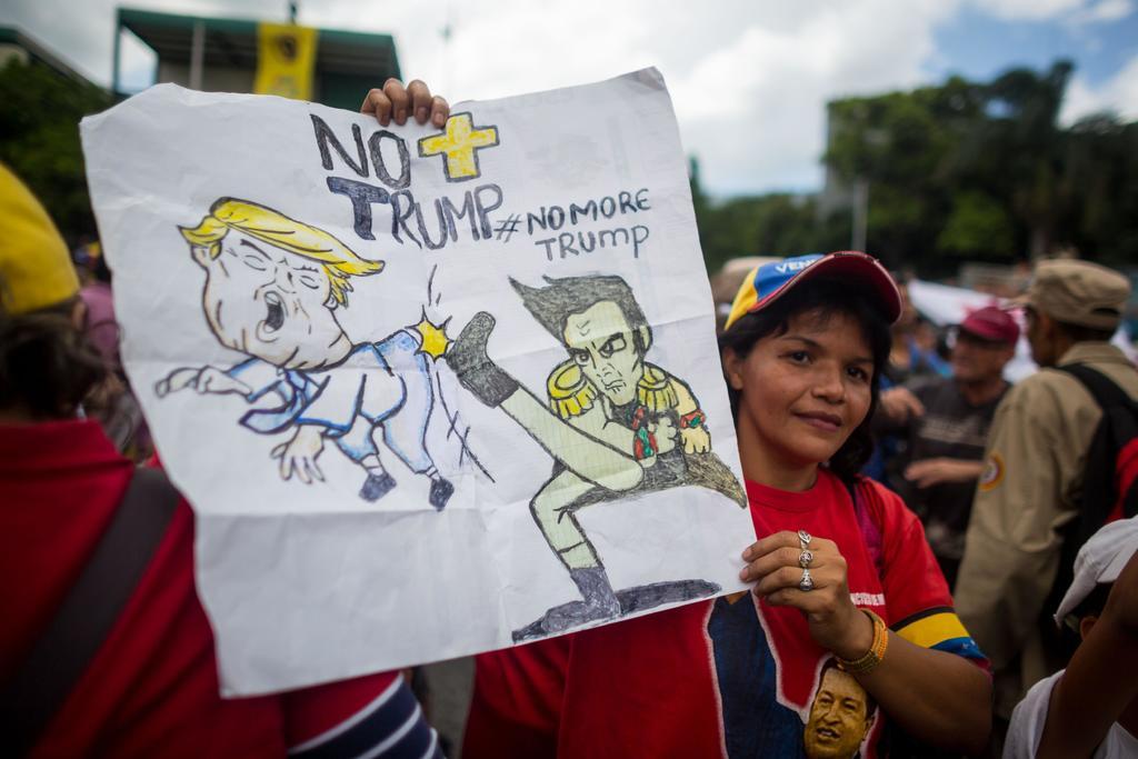 Mantiene chavismo la campaña No más Trump. Noticias en tiempo real