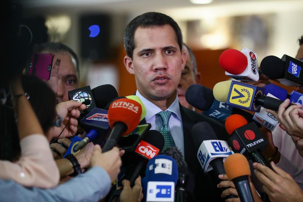 Asegura Guaidó que será presidente interino hasta lograr una elección. Noticias en tiempo real