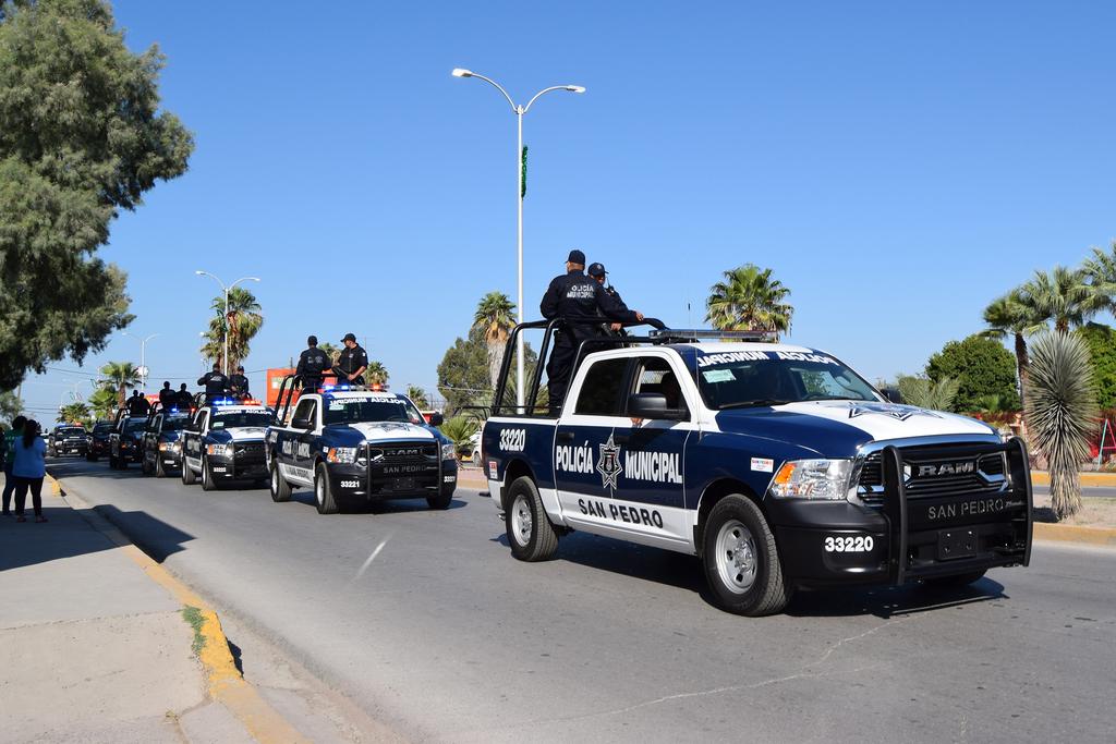 Recibe San Pedro equipo de seguridad. Noticias en tiempo real