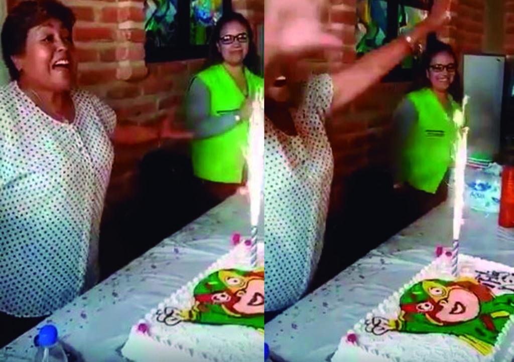 VIDEO: Su trabajo la festeja y le agradece a la competencia. Noticias en tiempo real