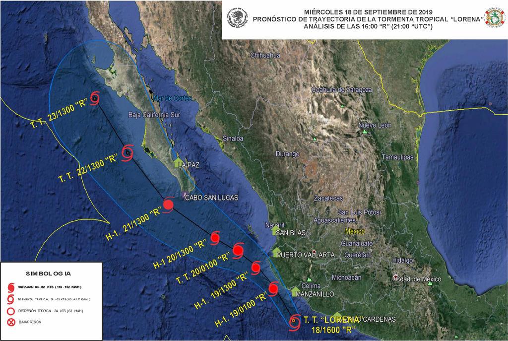 Activan Plan Marina en cuatro estados por Lorena. Noticias en tiempo real