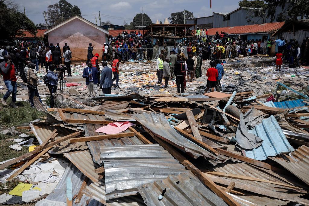 Mueren siete niños tras derrumbarse una escuela en Nairobi. Noticias en tiempo real
