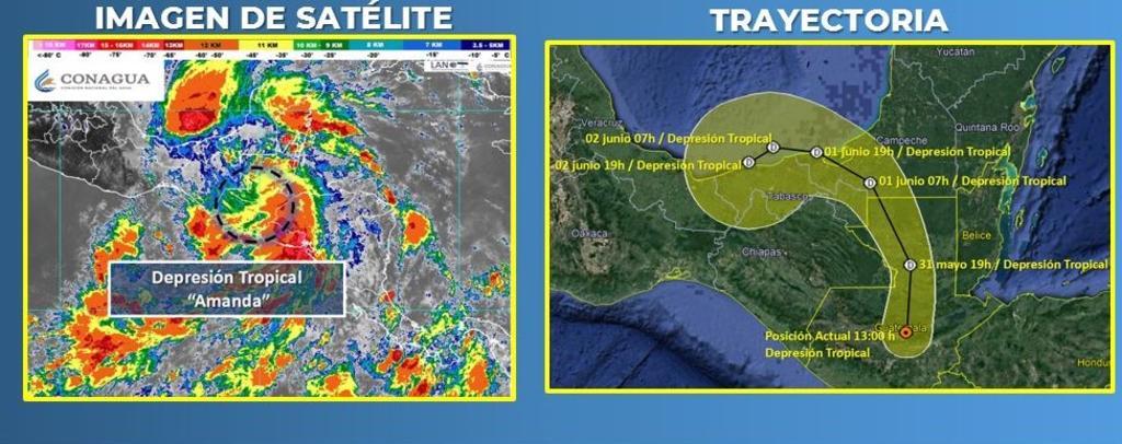 Depresión tropical Amanda dejará lluvias 'torrenciales' en México