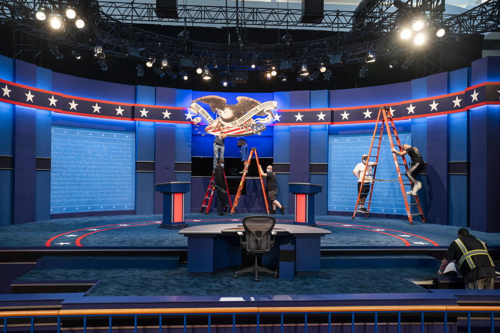 Se preparan Trump y Biden para primer debate en crisis por pandemia. Noticias en tiempo real