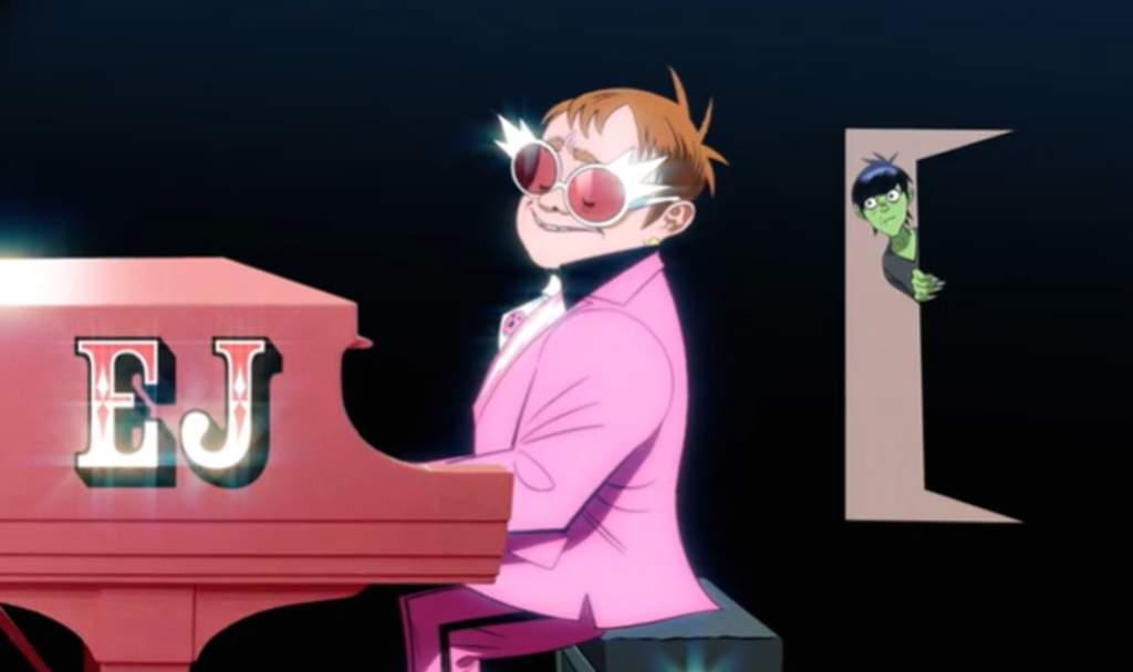 Gorillaz y Elton John estrenan colaboración musical. Noticias en tiempo real