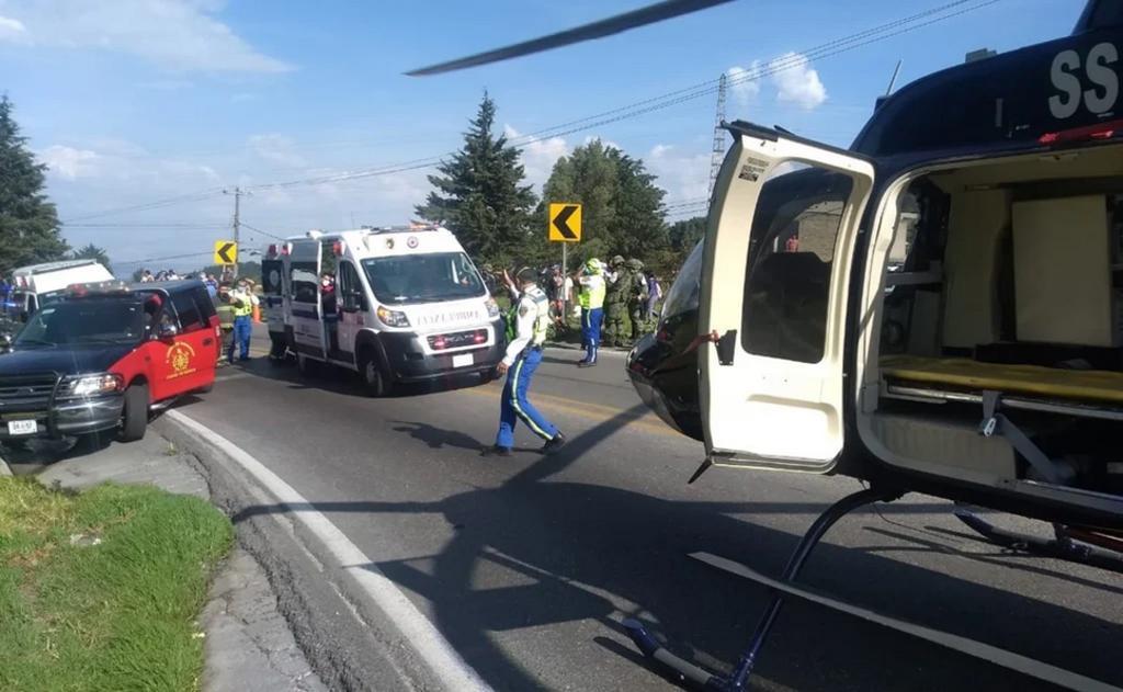 Volcadura deja al menos 14 lesionados en carretera México-Cuernavaca. Noticias en tiempo real