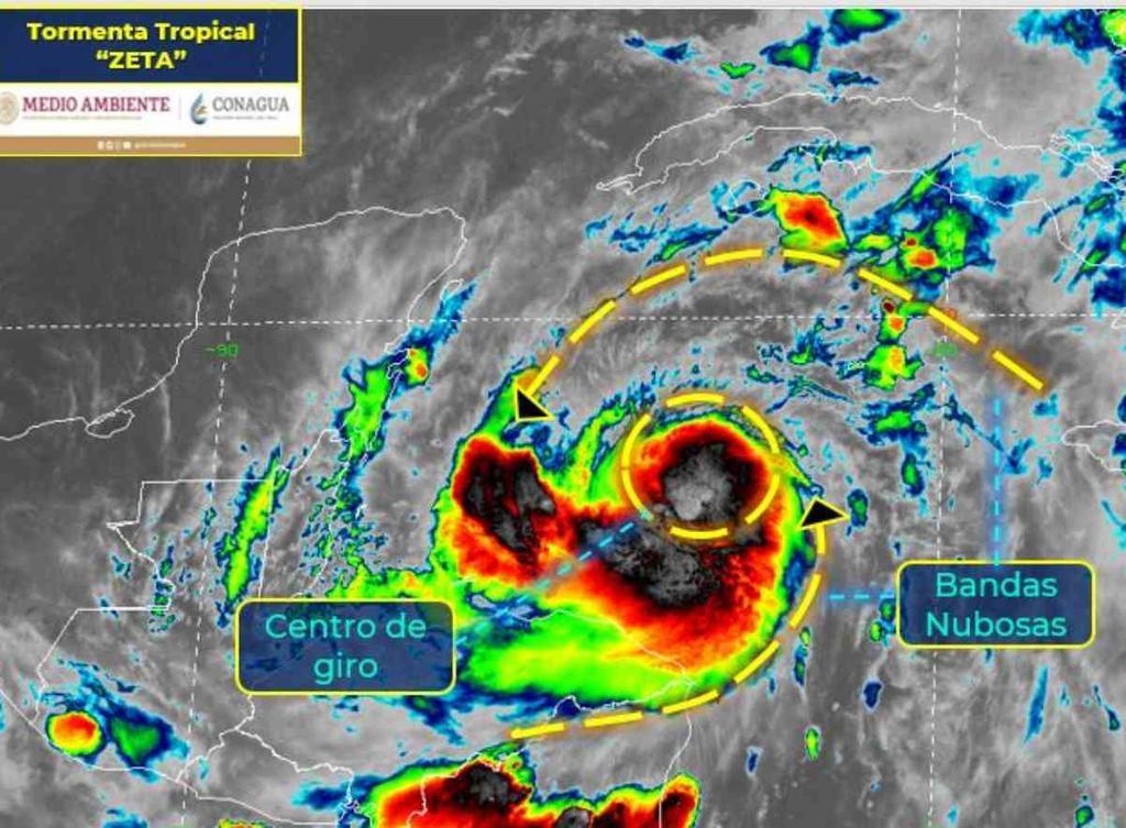 Decretan alerta amarilla en Quintana Roo por tormenta tropical Zeta. Noticias en tiempo real