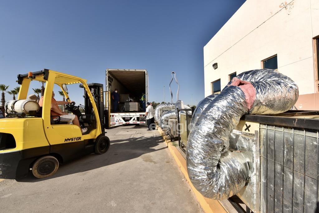 Llega Hospital Móvil de Acuña para pacientes COVID a Torreón. Noticias en tiempo real
