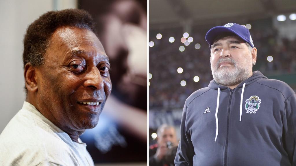 Algún día patearemos una pelota juntos en el cielo: Pelé sobre Maradona. Noticias en tiempo real