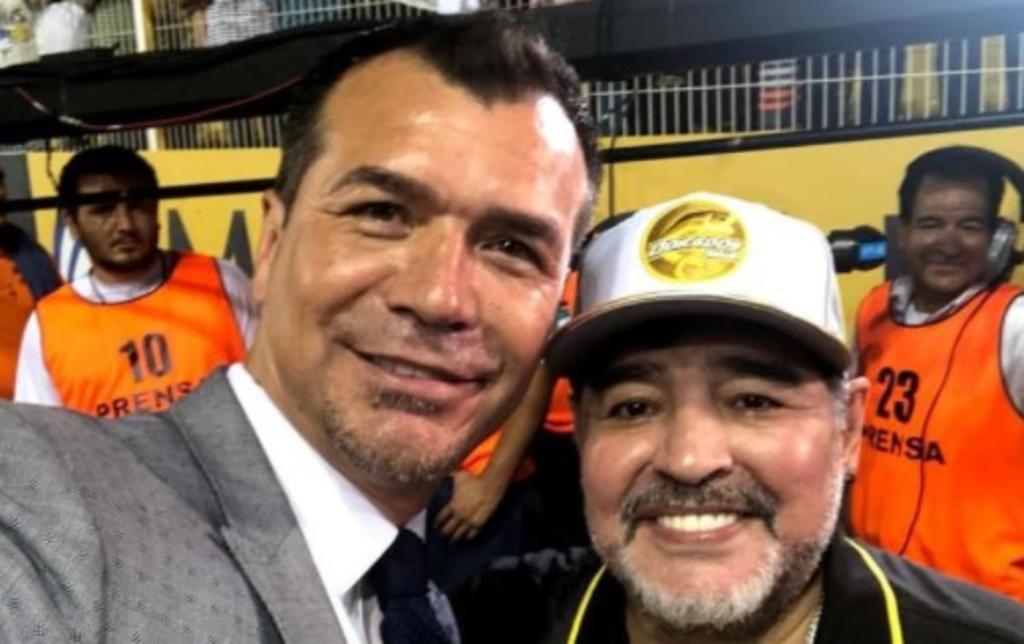 Así se despidió Jared Borgetti de Diego Maradona. Noticias en tiempo real