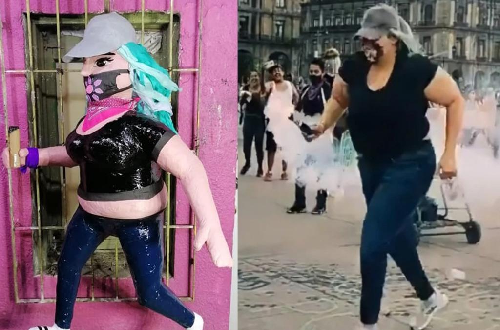 Dedican piñata a 'La Reinota', la mujer que se volvió viral durante la  marcha 8M, El Siglo de Torreón