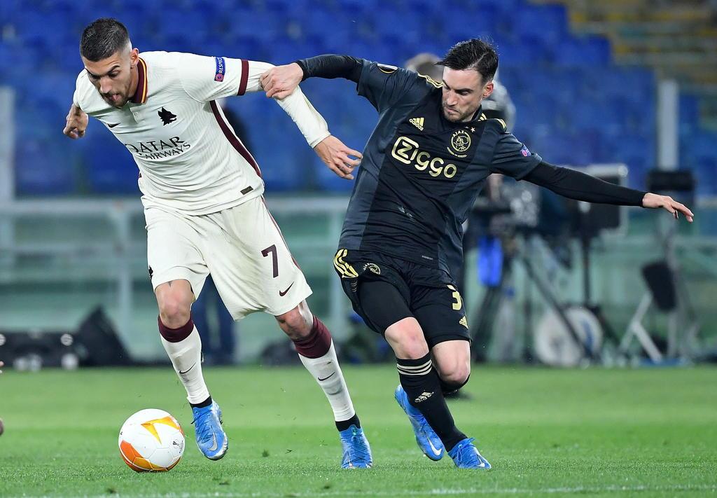 Roma frustra remontada del Ajax y va a semifinales de Europa League