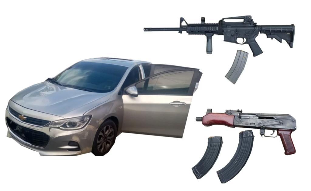 Aseguran armas y equipo táctico tras persecución en Mazatlán. Noticias en tiempo real