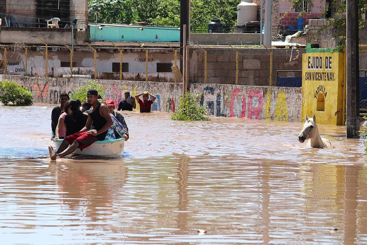 Tras paso de \'Pamela\' en Nayarit reportan al menos dos desaparecidos e inundaciones. Noticias en tiempo real