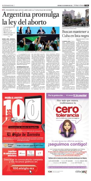 Edición impresa 15tora11
